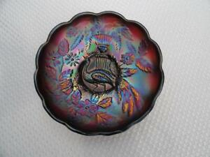 Carnival Glass Northwood Art Deco Peacock Bowl
