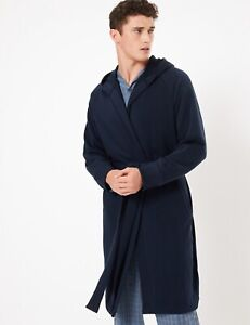 MARKS AND SPENCER COTTON JERSEY HOODED DRESSING GOWN SIZE XL BNWT