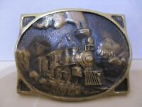 American Train Registered Collection Belt Buckle, Solid Brass Y-8640