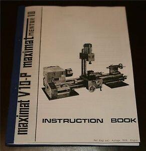 Maximat V10-P & Maximat Mentor 10 Lathe Manual