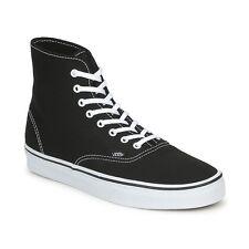 Herren Vans Authentisch Hi Top Leinen Skater Turnschuhe-UK Size 8.5 - schwarz.