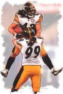 Great, Rare Troy Polamalu Pittsburgh Steelers Art Print