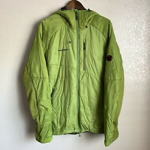 Mammut Men's Green Insulated Hooded Jacket Size XL flawed