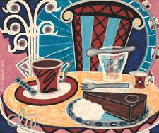 JACQUELINE DITT - Coffee Old Vienna A4 DRUCK n.Gemälde Bild Kaffee Bilder Giclee