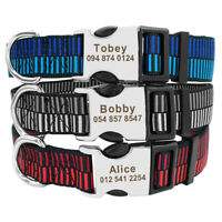 Small Large Personalised Dog Collars Customized Pet Name ID Rottweiler Boxer S-L
