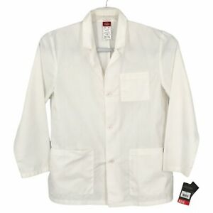 """NEW Dickies Lab Coat Mens Small White 31"""" Long Sleeve Pockets 3-Button 81404 EDS"""