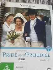 DVD - Pride and Prejudice (BBC) - episodes 4-6