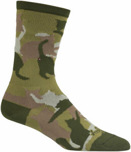 SockGuy Crew Catmo Socks 5 inch Green Large X-Large Easy-Fit Cuff Unisex
