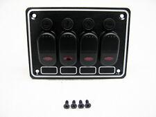 Imperméable 4 gang fusible interrupteur panneau/bateau/caravan/camping-car/4 commutateurs