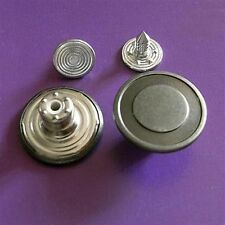 12 NO-SEW Vintage Metal Brass Press Stud Jeans Tack Snaps Buttons 16.5mm G70