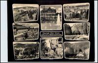 DDR Postkarte Thüringen 1961 OBERHOF 8-fach s/w Mehrbildkarte gelaufen AK