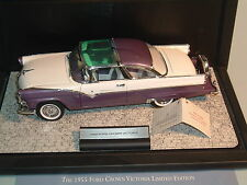 1955 FORD CROWN VICTORIA PURPLE LE 6201/9900 FRANKLIN MINT 1:24 DIECAST & DSPLAY