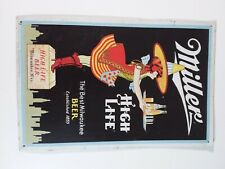 Miller High Life Tin Sign 16 X 12.5 The Best Milwaukee Beer -  Lot 203