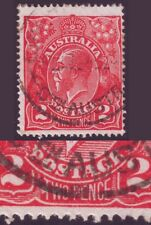 2d RED KGV SINGLE WATERMARK VARIETY BW96(11)ga FINE USED CAT.VAL. $40 (A5149)