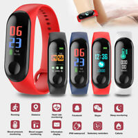 Bluetooth Waterproof Smart Bracelet Fitness Tracker Pedometer Heart Rate Watch