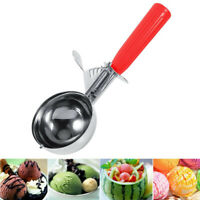 Ice Cream Stainless Steel Spoon with Trigger Lever Comfort Grip Handle