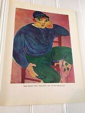 Vintage Henri Matisse Young Sailor Albert Marquet Seashore at Fecamp Print 20504