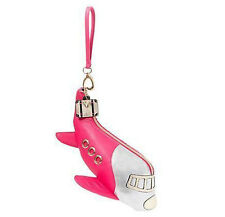 ♡ Betsey Johnson Kitsch Purse Retro Airplane Shaped Wristlet Travel Rosebud