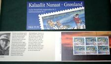 Greenland Christmas Stamp Booklet #02 1997 Sledge Dog Santa - CTO - EXCELLENT!