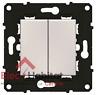 Va et vient 10A + bouton poussoir 6A Arnould Espace Evolution Blanc 64014
