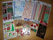 Christmas Holiday Scrapbooking Sticker Assortment