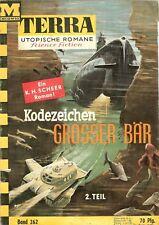 Terra Heft-Nr. 262 - Kennzeichen Großer Bär - Utopische Romane - K.H.Scheer