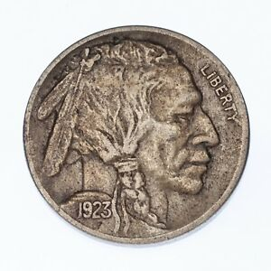 1923-S Five Cent Buffalo Nickel 5C (XF Condition)