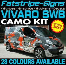 VAUXHALL VIVARO SWB CAMO GRAPHICS STICKERS STRIPES DECALS CAMPER VAN MOTORHOME