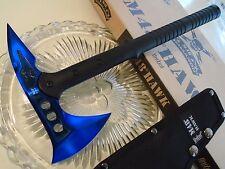 "M48 Blue Titanium Hawk Combat Tomahawk Axe Hatchet Knife Spike UC3174 15 1/2"""