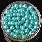 New 30pcs 8mm Round Glass Pearl Loose Spacer Beads Jewelry Making Lake Blue