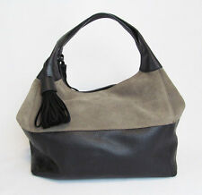 J. Peterman Italian Leather Suede Tan & Black WAC 5274 SOLD OUT Handbag - NEW