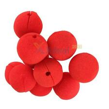 XD#3 10 PCS RED Foam Circus Clown Nose Comic Party Halloween Costume Magic Dress