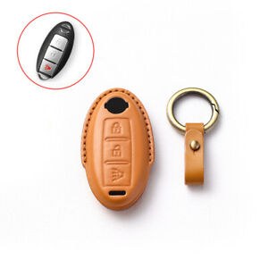 Leather Remote Key Shell Cover Case Fob Holder For Nissan Murano Car Accessories