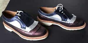 DOC DR. MARTENS ELIZABETH TRIPLE KILTIE BROGUE - ANILMORBIDO - MADE IN ENGLAND
