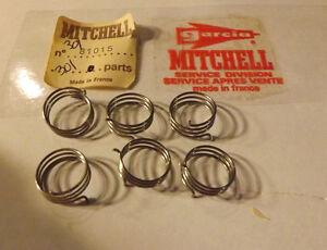 6 NOS Garcia Mitchell 301 304 306 406 401 340 Fishing Reel Bail Springs  81015