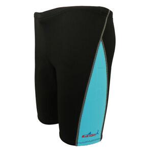 Shorts Damen Herren Neopren Hose Thermo Neoprenhose 1.8mm Badehose - Blau M