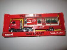VINTAGE 1989 BUDDY L COCA-COLA COKE MACK TRUCK & TRAILER NRFB