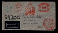 Germany March 23 1935 Flight Cover to Chile / Slogan Metered - L17467