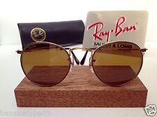 NEW B&L RAY BAN USA ROUND B15 AVIATOR BAUSCH & LOMB JOHN LENNON W/ CASE VINTAGE