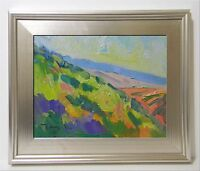 JOSE TRUJILLO FRAMED - California Impressionism Oil Painting Hillside 11X14""