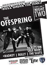 Offspring/Radkey/Bully/Sl uts 2015 Kansas City Concert Tour Poster- Punk/Alt Rock