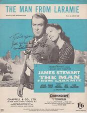 James Stewart Autograph , Original Hand Signed Movie Sheet Music