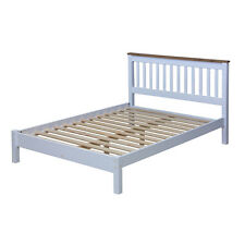 Capri White Painted and Waxed Pine 4ft 6 Wooden Bed CP460LE eBay