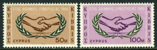 Cyprus 260-261, Mnh. Intl. Cooperation Year. Icy Emblem, 1965