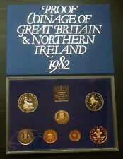 1982 Royal Mint UK Proof 7-Coin Year Set includes Proof First 20p