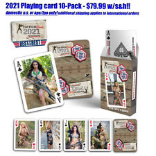 2021 Tactical Girls Calendar Playing Cards  - 10 pack $79.99 w/S&H