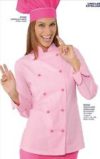 GIACCA CUOCO DONNA CHEF ISACCO LADY EXTRA LIGHT ROSA FUXIA DONNA CHEF JACKET