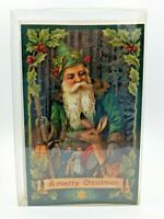 Vintage Merck Family's Old World Christmas Boxed 10 Cards Santa Elf Forest #8941