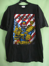 Tee Shirt ANTHRAX I am The Law Jersey Homme Vintage Shirt 80'S Black - M