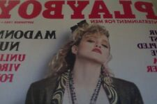 MADONNA/ PLAYBOY MAGAZINE COVER AND PHOTOS/ 1985/ LAST STAPLED ISSUE